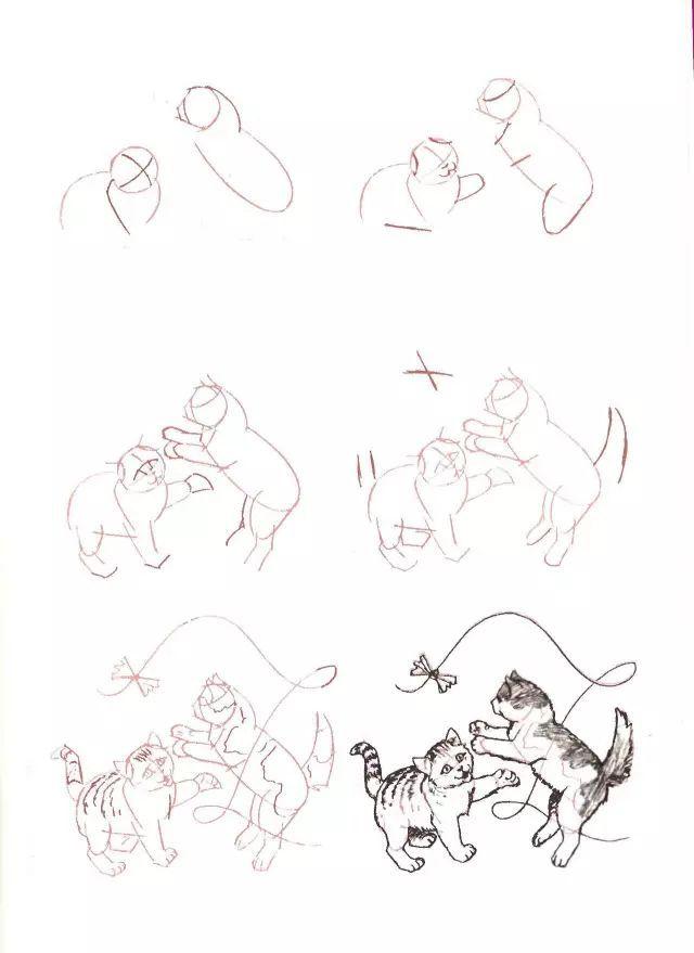 二、猫的素描好画吗?