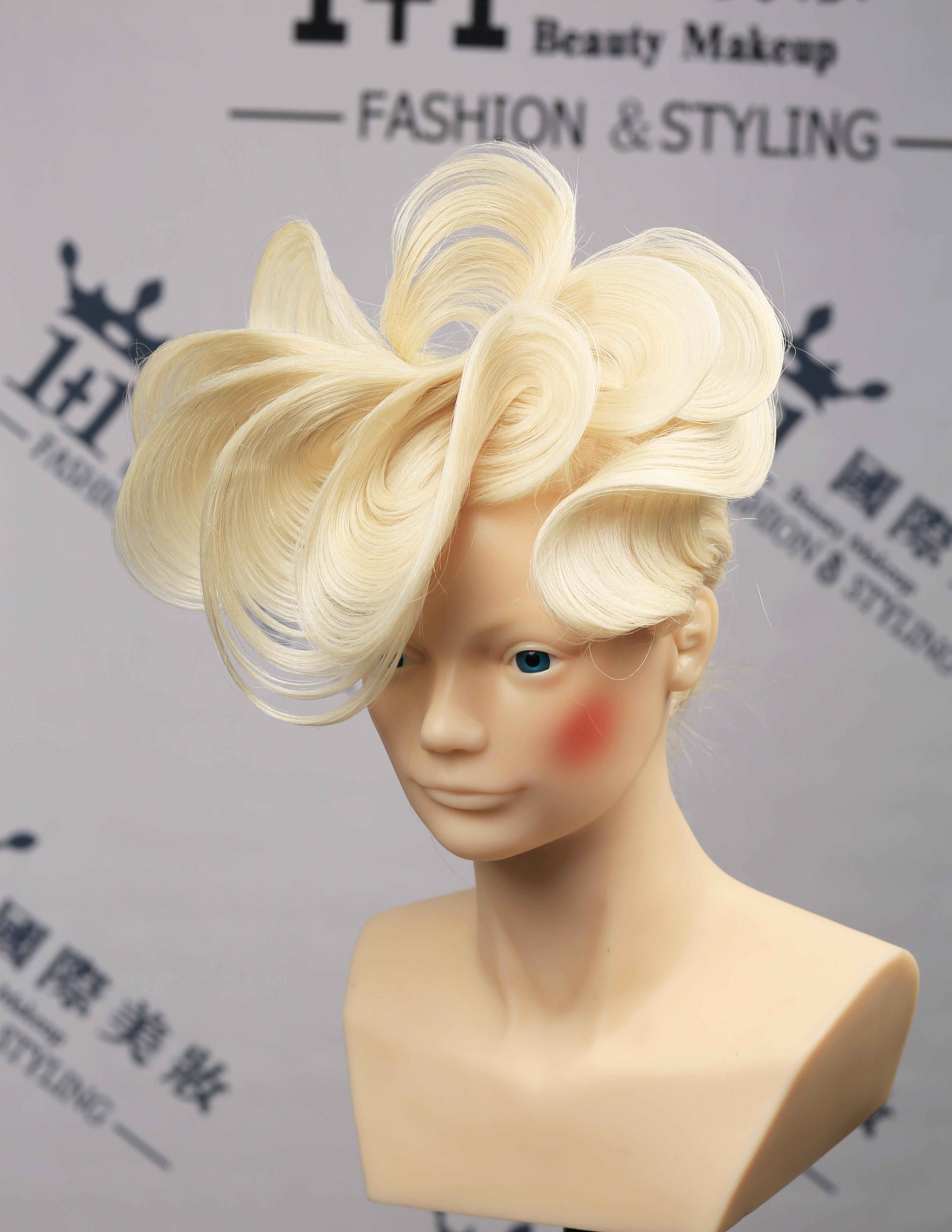 新疆化妆造型学校高级晚宴盘发,创意盘发视觉