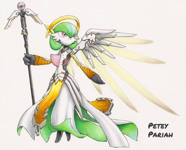 精灵宝可梦x守望先锋强强联合,宝可梦们成为英雄后帅呆了!