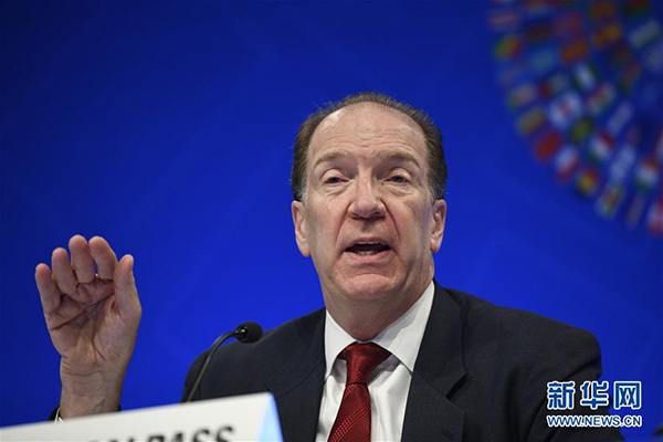 世行新行长马尔帕斯亮相春季会议:期待与中国发展建设性关系