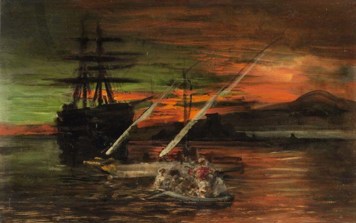 那不勒斯海湾的幽灵船 那不勒斯海湾的渔夫