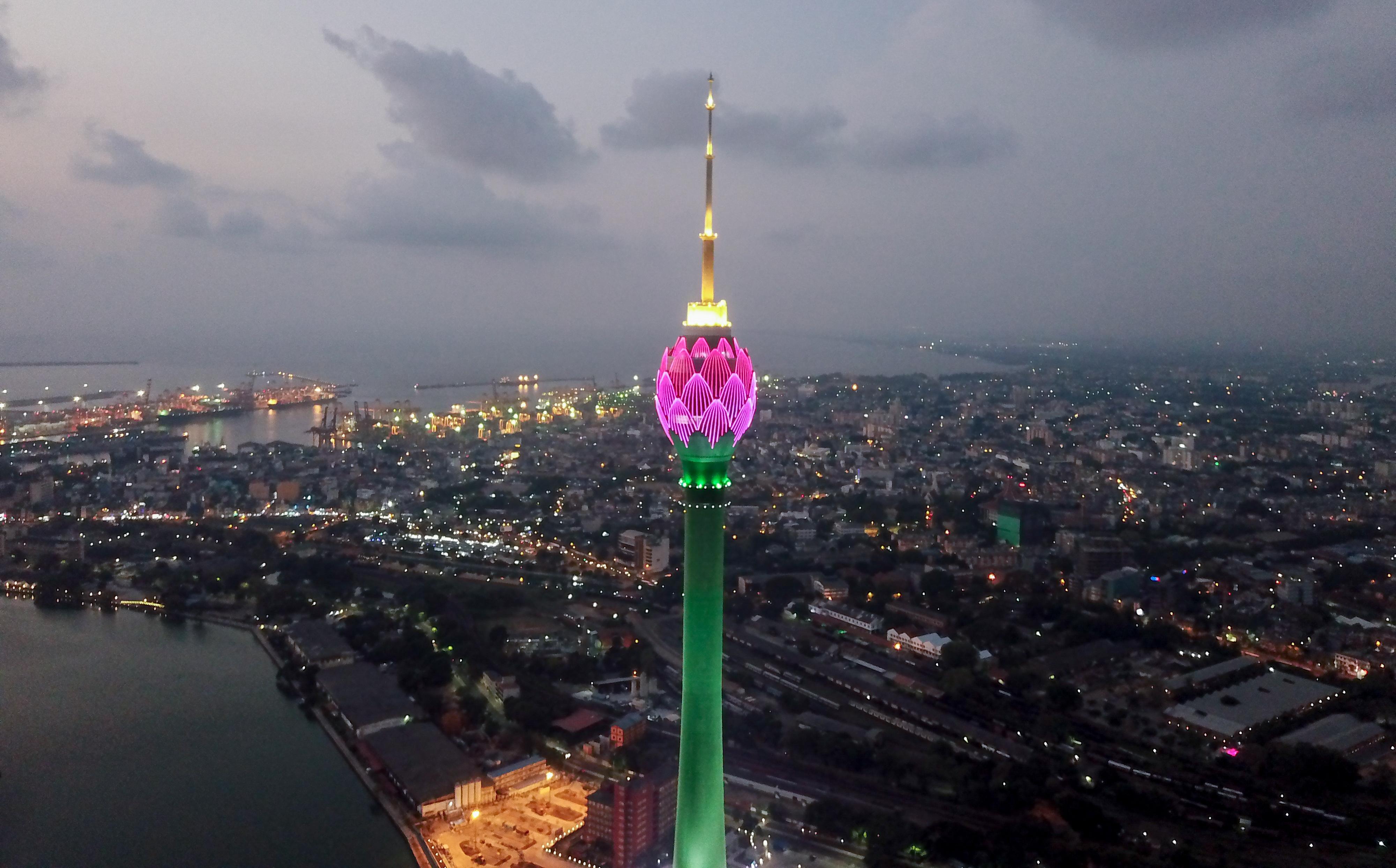 斯里兰卡:科伦坡地标性建筑莲花电视塔项目即将完工