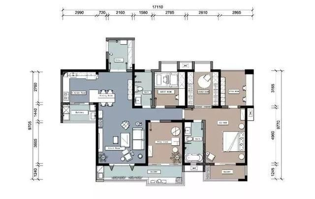 147平三居室装修,阳台成花园,入户就有惊喜,全屋处处是亮点!