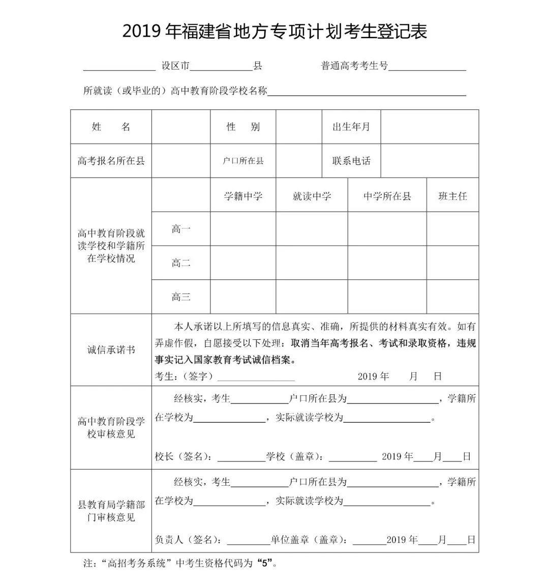 2019年地方专项计划考生资格4月16日开始申报