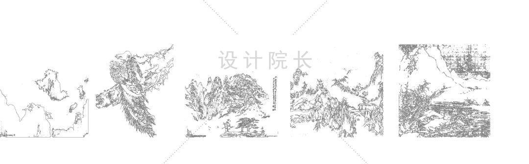 手绘景观cad平面图