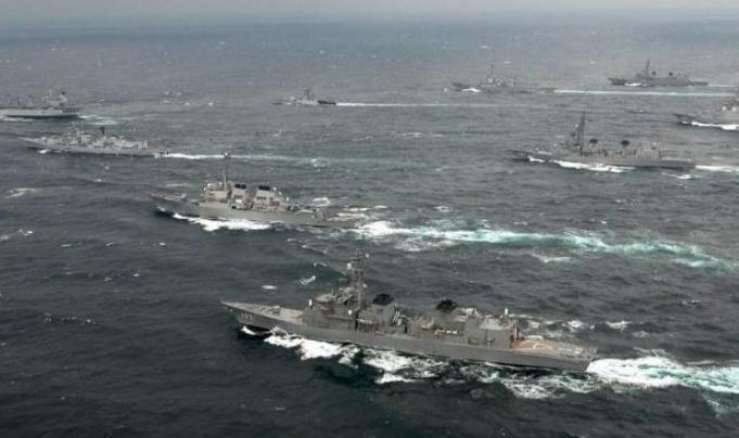 海军成立70周年庆典,万吨大驱提前抵达,多国军