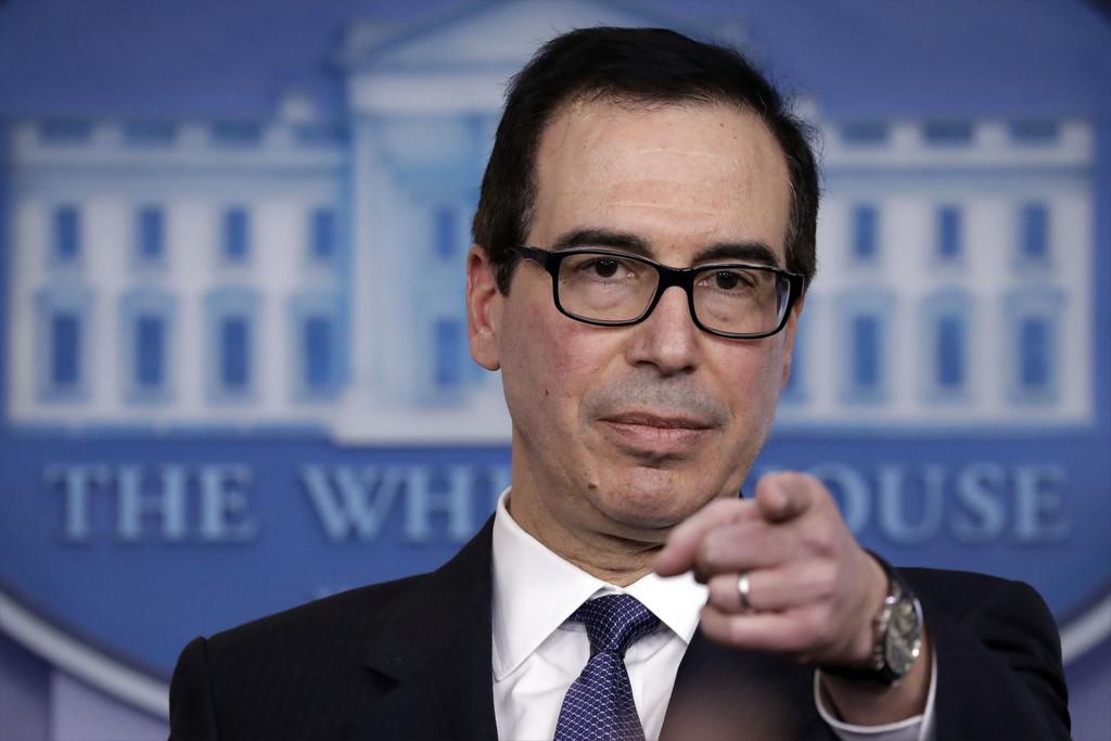 """美國""""畫餅"""":隻要馬杜羅下臺,援助100億美元_斯蒂芬·姆努欽"""