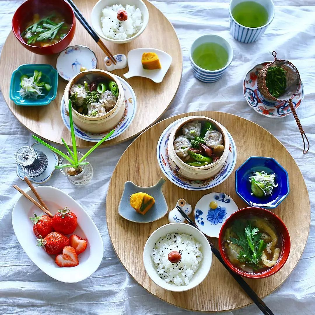 日本博主分享的和式早餐画风太美!完美诠释了什么叫好好吃饭!