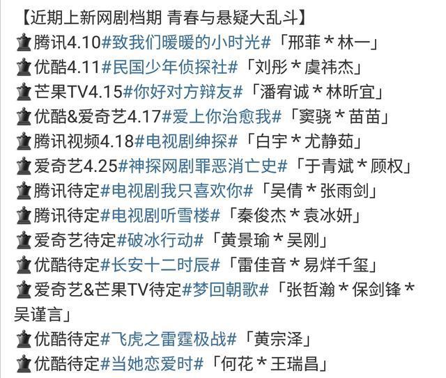 四月网剧大乱斗:易烊千玺、窦骁、白宇各有新剧,哪部更值得追?