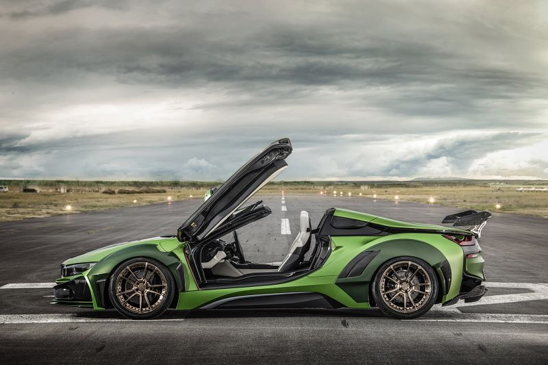 宝马BMW i8 Roadster哑光绿涂装 改装案例