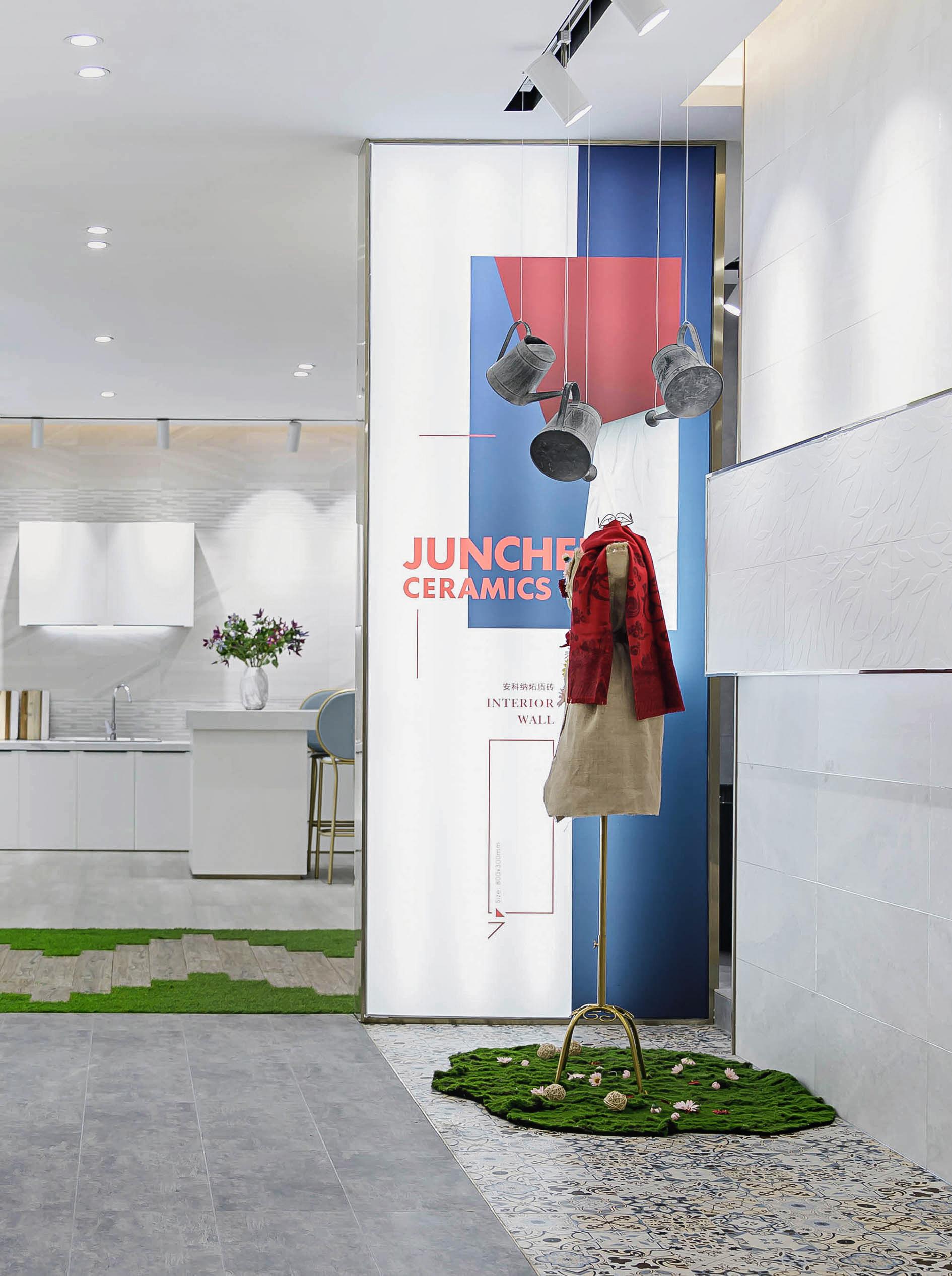 英鸣软装设计 突破 · 定义轻奢新风范:骏程陶瓷总部展厅