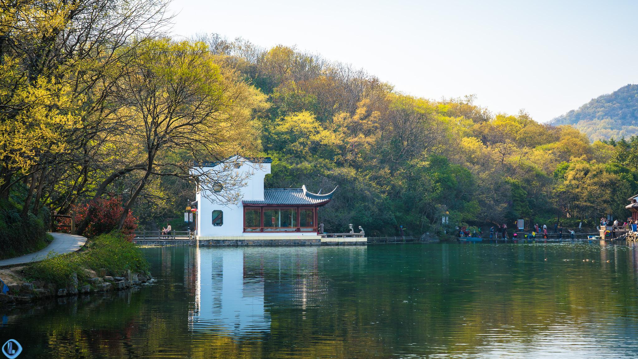 南京珍珠泉,地下泉水冒出时似颗颗明珠