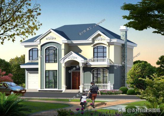 6款带大落地窗农村别墅设计图 第2栋设有大露台 第4栋不到25万