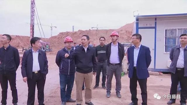 黄东明到藤县教育集中区调研指导项目建设进展工作