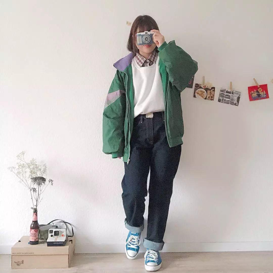 最近,日本妹子都迷上了爸爸的旧衣服…这样搭居然也超级好看!