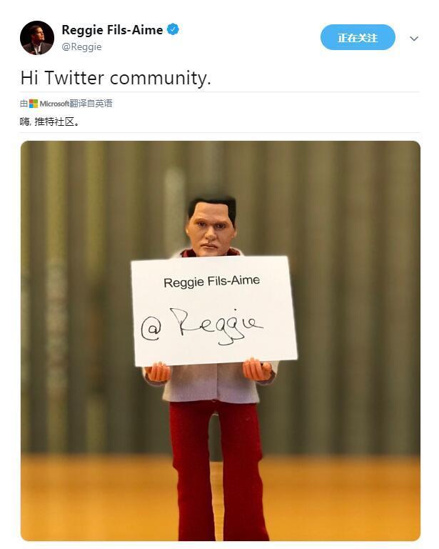任天堂总裁雷吉正式退休开通个人推特