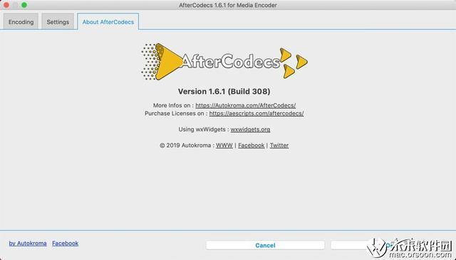 AfterCodecs Mac破解版(AE/PR/ME特殊编码渲染插件)_Adobe