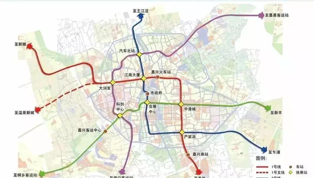 嘉兴地铁规划图
