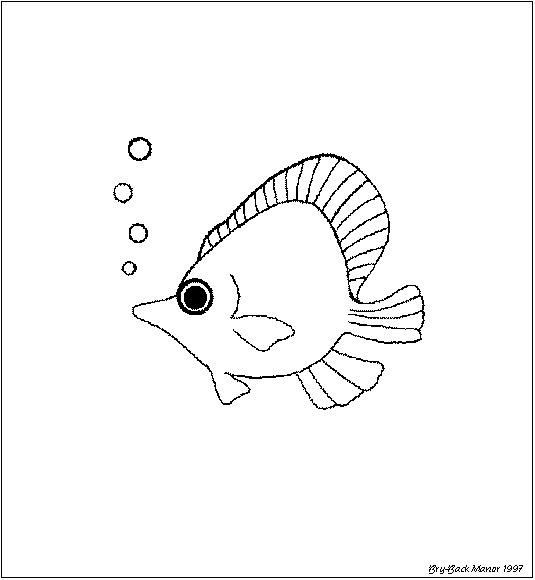 三年级手抄报画小鱼 怎么画