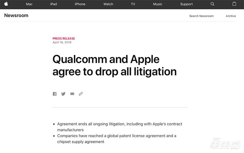 突发!高通苹果官司和解,英特尔退出手机5G基带市场