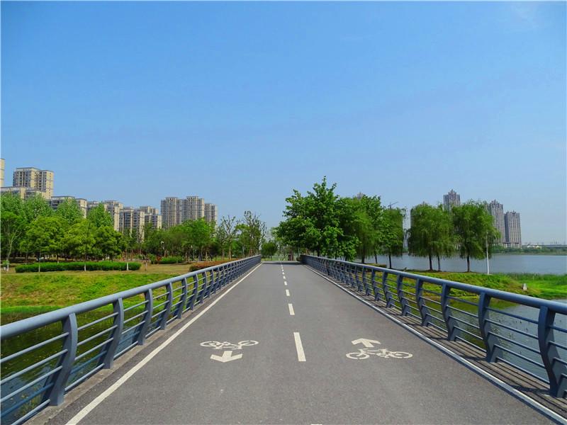 这个公园能骑单车游园真是太爽了