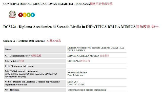 意大利留学知识——博洛尼亚音乐学院音乐教育专业硕士课程