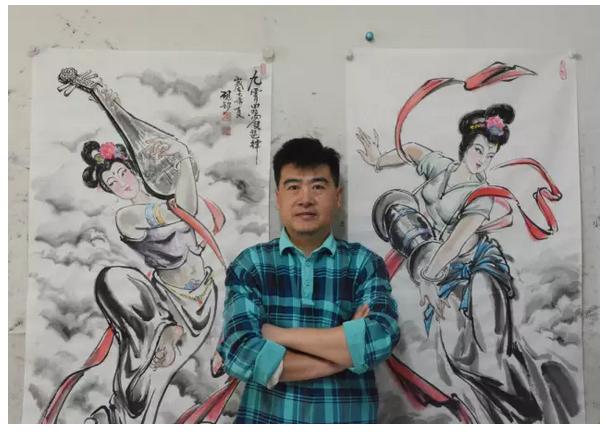 著名漫画家张砚钧笔