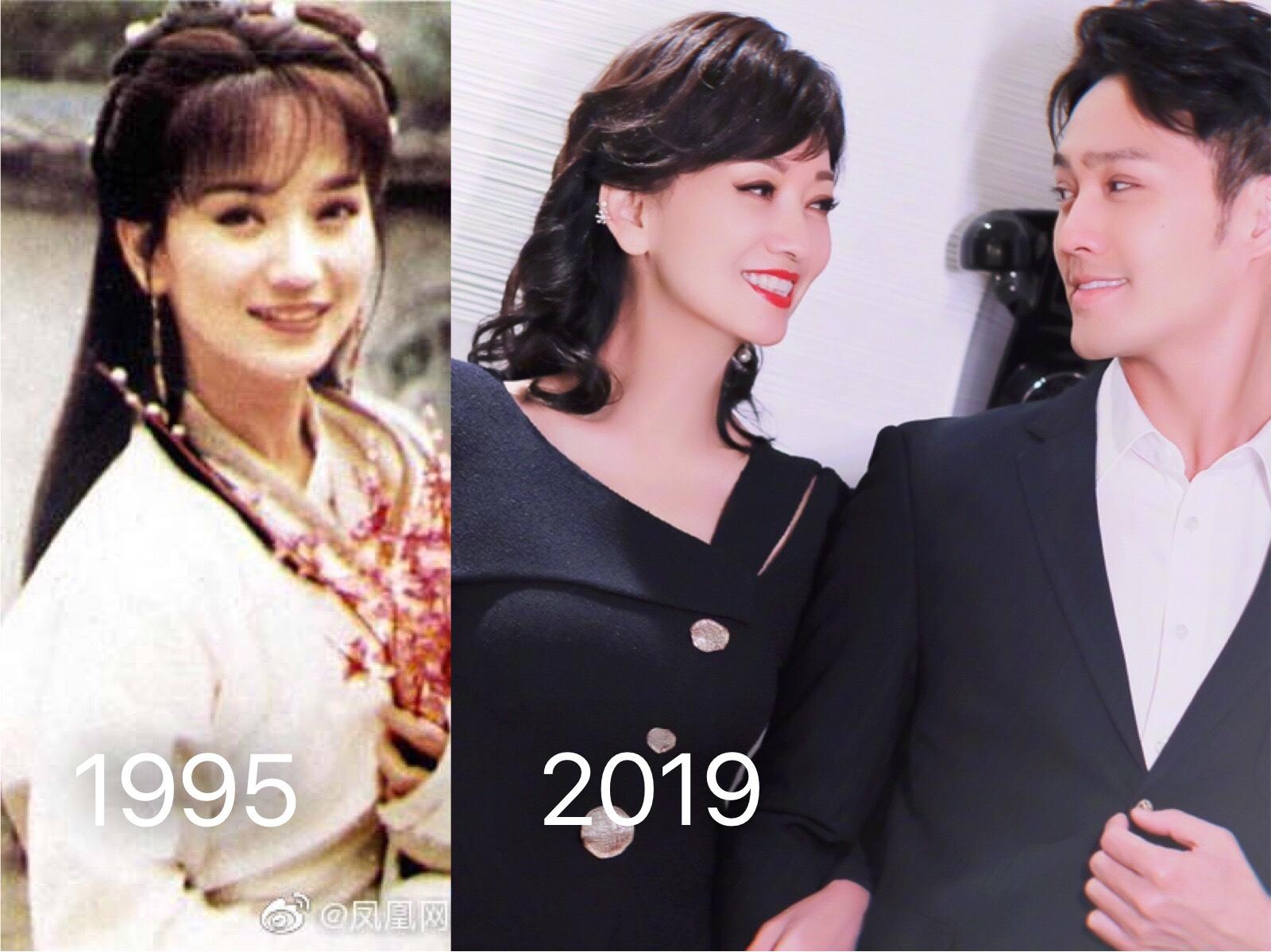赵雅芝的儿子黄恺杰图片_不管是41岁,还是65岁,她永远都在最美的年纪_赵雅芝
