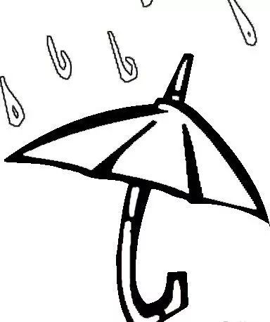 儿童雨伞简笔画