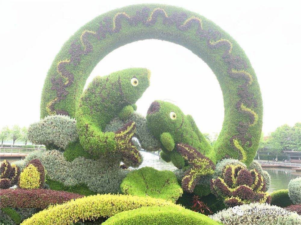 <b>六合龙池湖更美了!迎来两处超颜值新绿雕...</b>