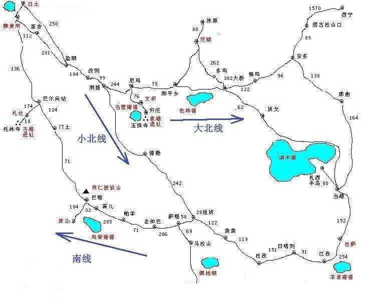 阿里大北线、南线、小北线旅游路线区别是什么?