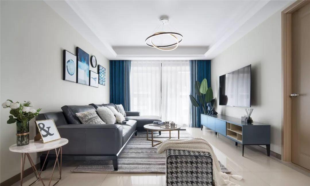 118㎡现代简约风四居,宁静优雅、清新舒缓的气质美家!