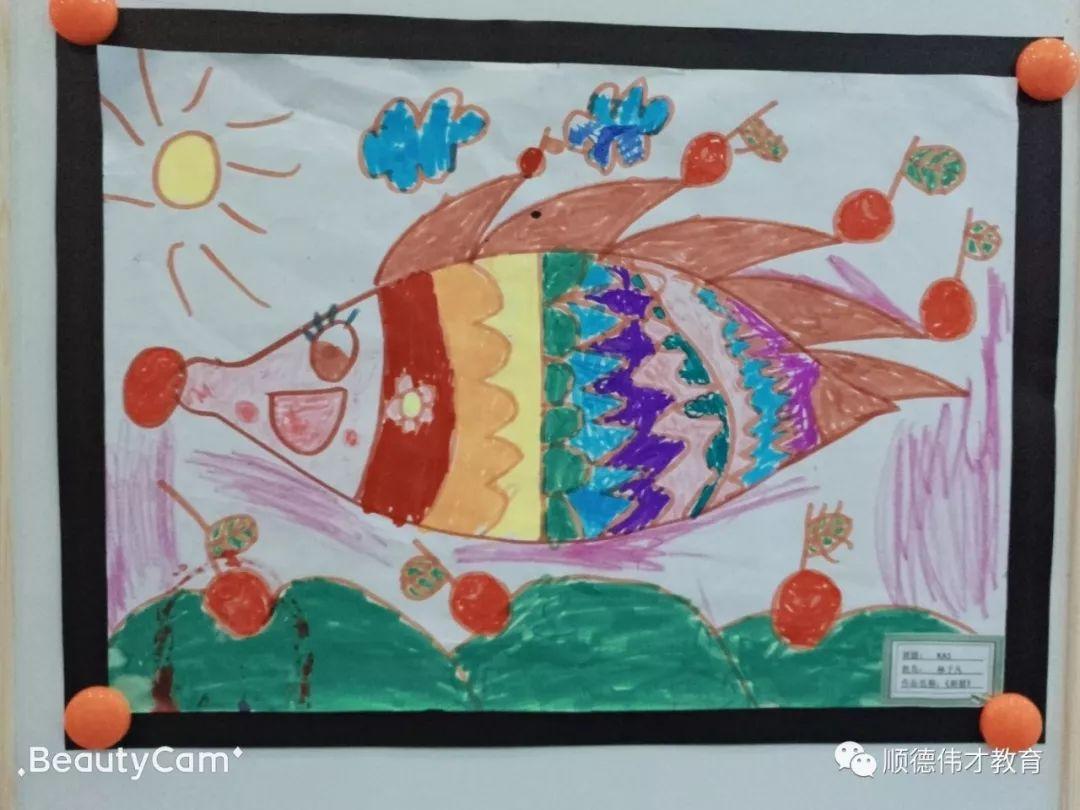 顺德区大良伟才幼儿园小梵高美术作品展图片
