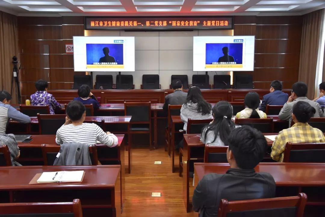 丽江市卫生健康委组织开展国家安全教育主题党日活动