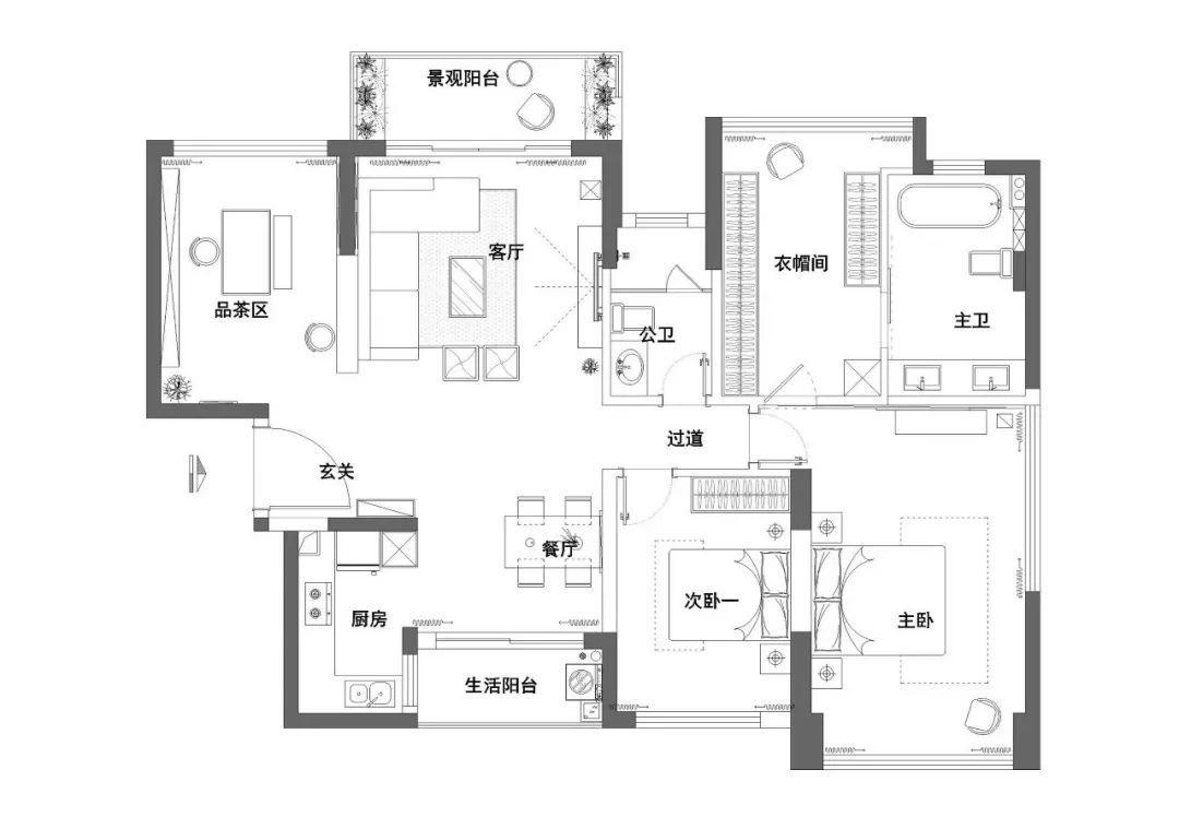 <b>130平的房子就做了两间卧室,享受的就是这种禅意生活!</b>