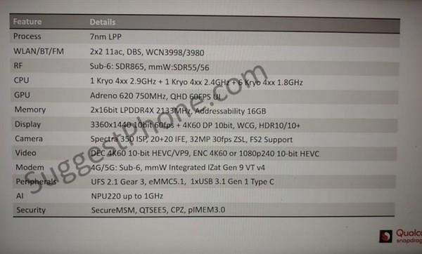 高通骁龙735处理器规格曝光:主频竟2.9GHz!