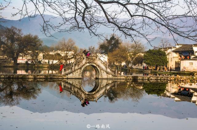 黄山市有座宏村,因为南湖成为中国最美乡村!