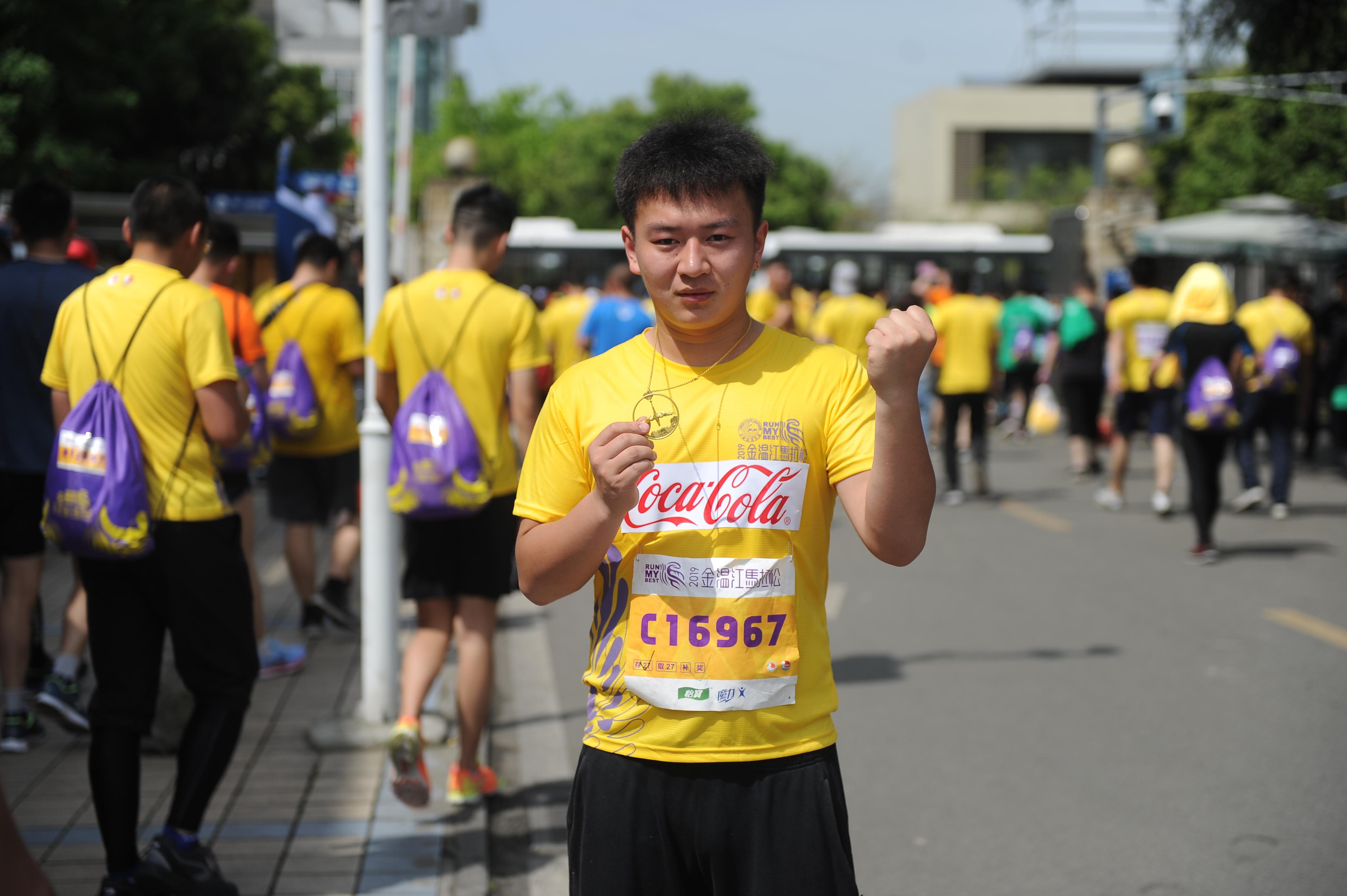 在金温江半马,听中粮可口可乐四川跑友的故事