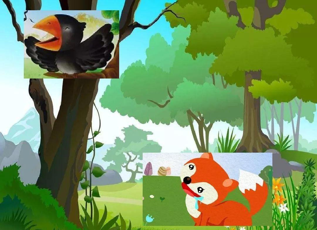 狐狸与乌鸦插画