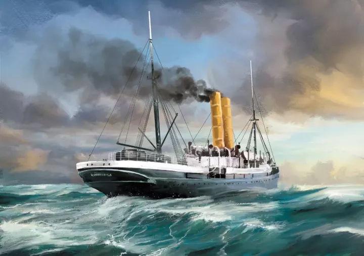 船怎么画?轮船、军舰各种船的画法!