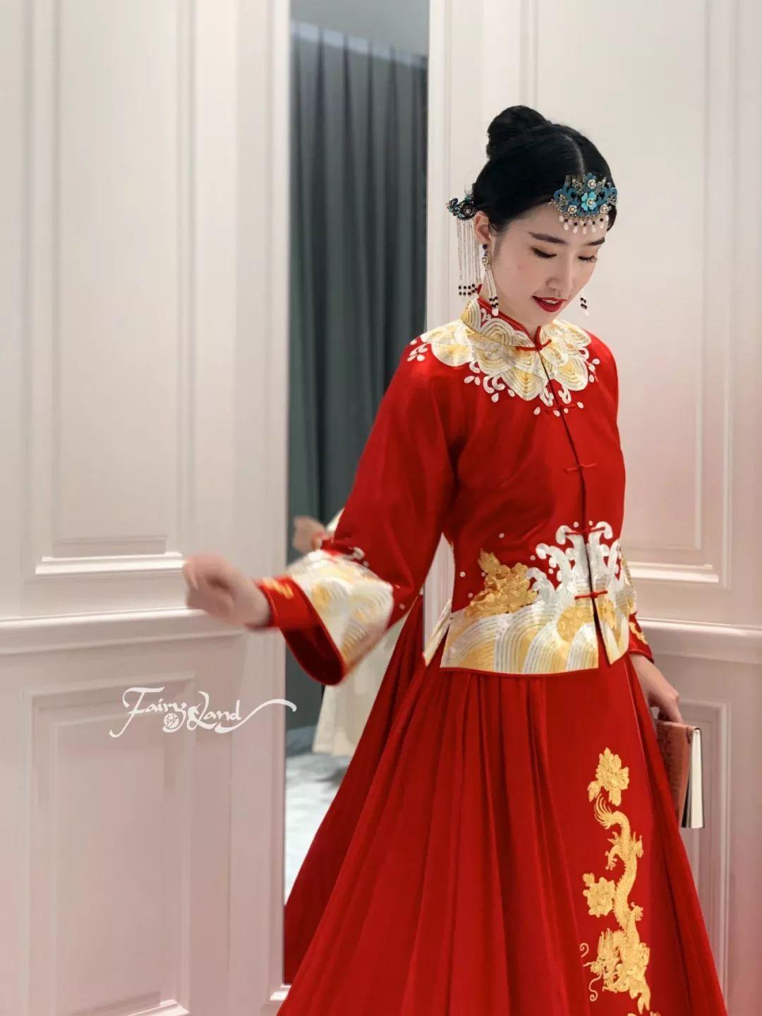 中式嫁衣马来褂