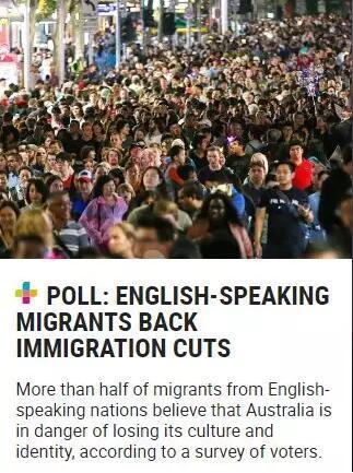 """近3/4澳大利亚选民认为澳洲人满了,""""这类移民请别再来"""""""