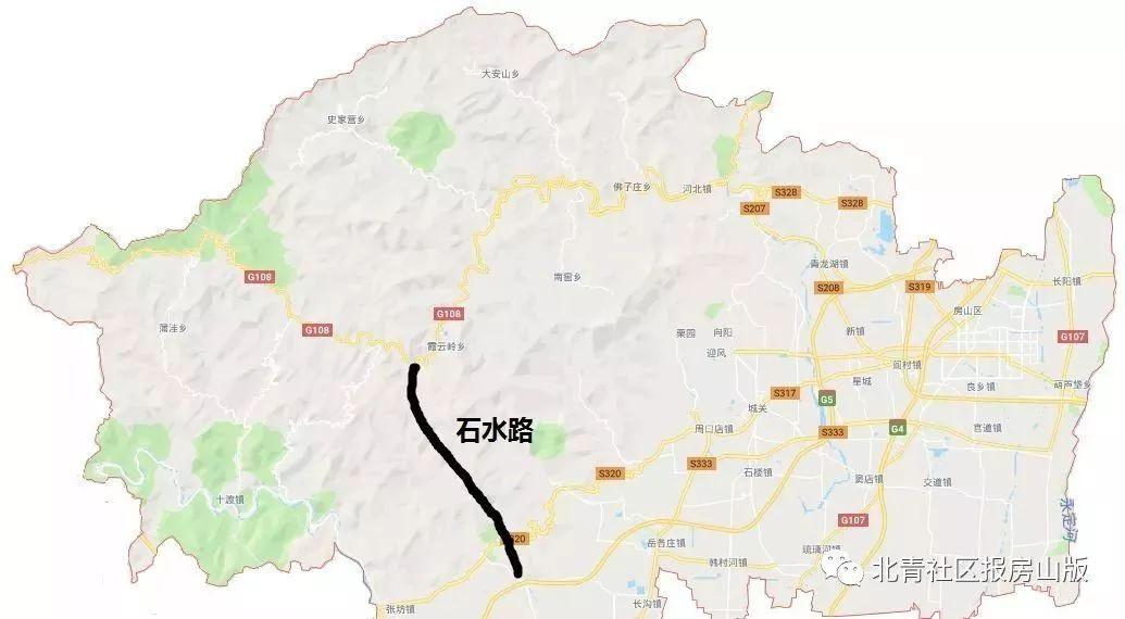 ▲108国道至京昆高速连接线规划路线
