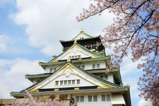 <b>日本红顶天守阁樱花开了 !快来看看吧!!</b>