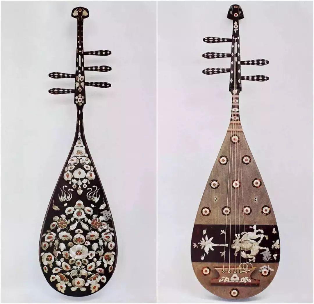 琵琶谁人制,长拨别离愁 最早被称为琵琶的乐器大约出现在秦朝,社会上开始流传一种圆形、带有长柄的乐器叫作琵琶。其名琵琶是根据演奏这些乐器的右手技法而来。琵琶弹奏时主要使用两种技法:向前弹出去叫批,向后挑起来叫把,所以人们就叫它批把。 汉代刘熙《释名释乐器》中记载:批把本出于胡中,马上所鼓也。推手前曰批,引手却曰把,象其鼓时,因以为名也。意即批把是骑在马上弹奏的乐器,向前弹出称批,向后挑进称把,根据演奏的特点而命名为批把。后来,为了与当时的琴、瑟等乐器在书写上统一起来,便改称琵琶。 琵琶发