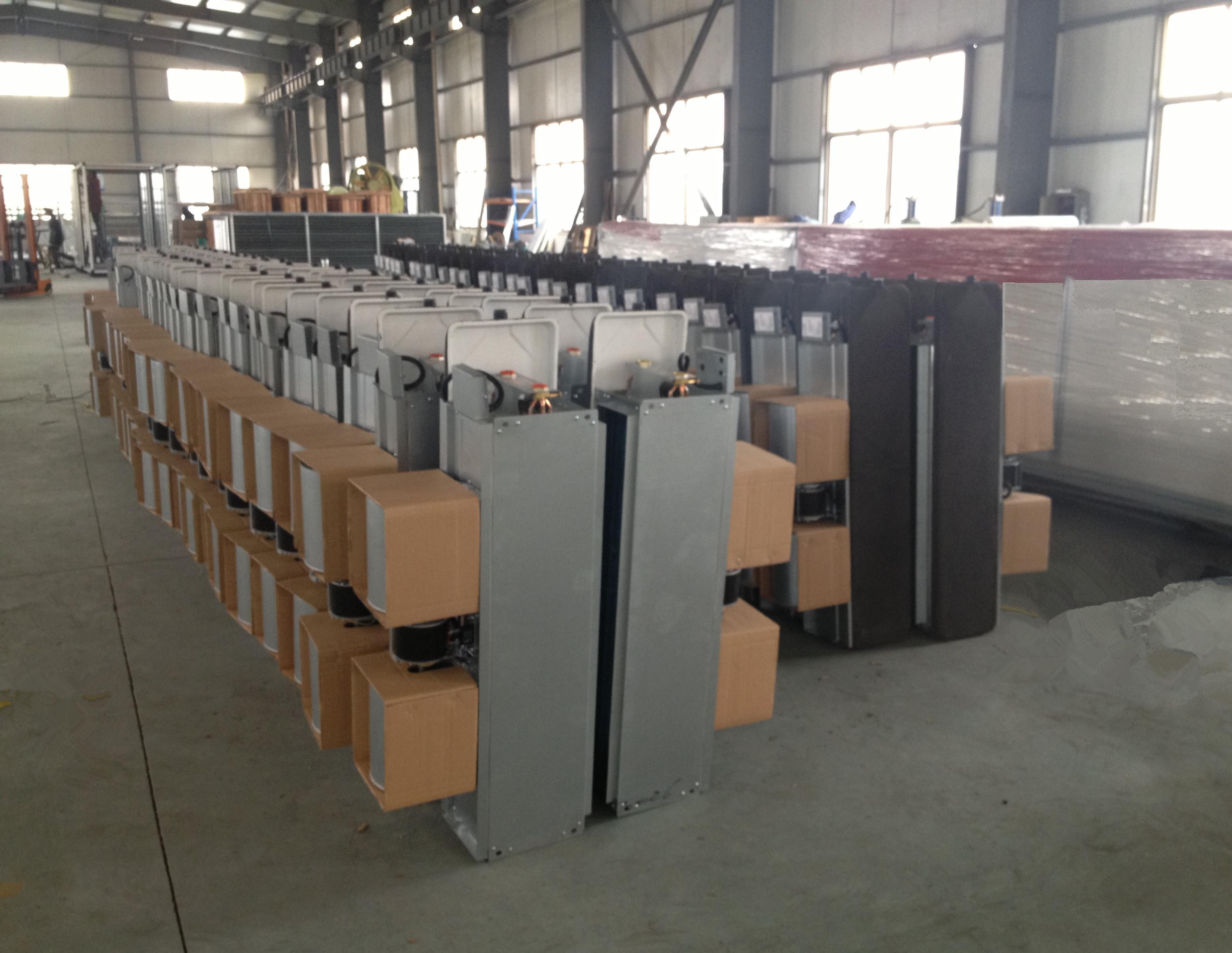 扬子江空调风机盘管生产现场