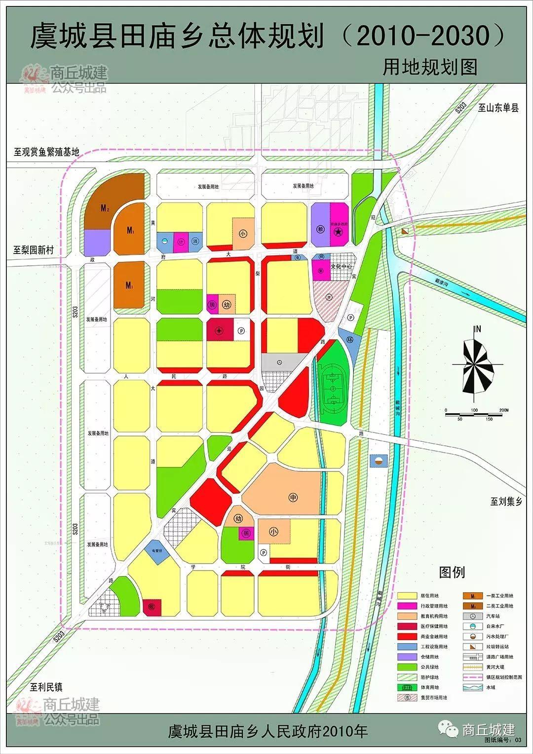 商丘市虞城县田庙乡总体规划(2010-2030)