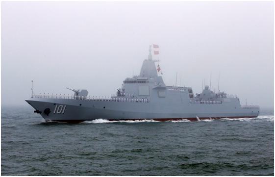 中国最强驱逐舰亮相海军节传承老舰名,英雄城市彰显我军优良传统