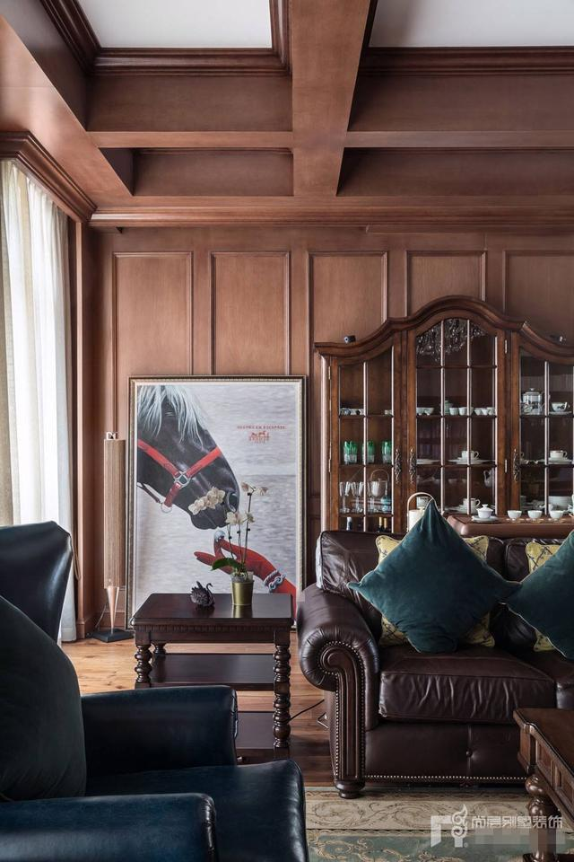 尚层作品丨400平美式风格别墅实景案例