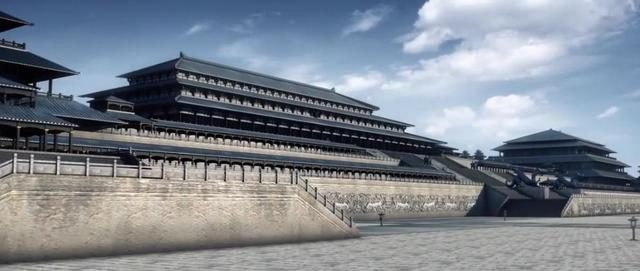 秦朝阿房宫复原图:占地面积15平方公里,相当于20个故宫